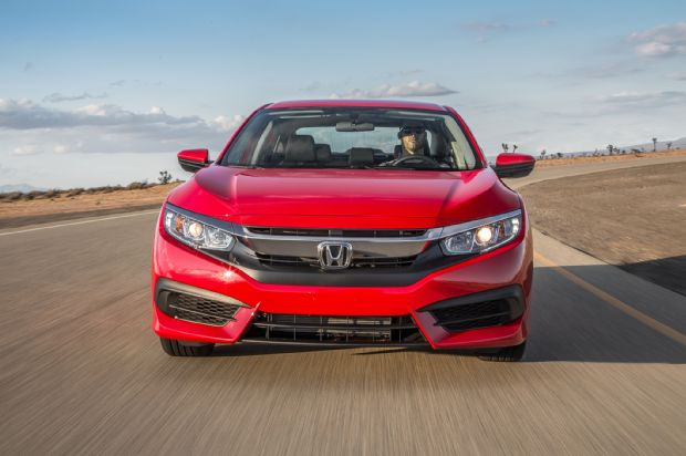 2016 Honda Civic Sedan Front View In Motion