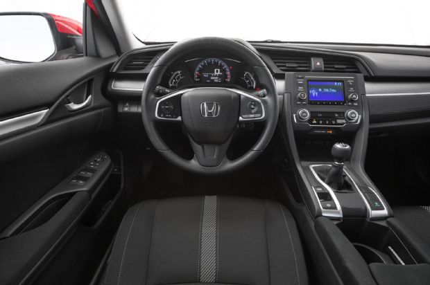 2016 Honda Civic Sedan Steering Wheel And Center Stack
